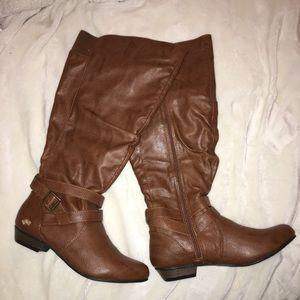 Fergalicous Lara Knee High Boots women's brown 8